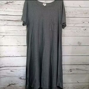 LuLaRoe Cassie Dress Gray Pocket 3XL